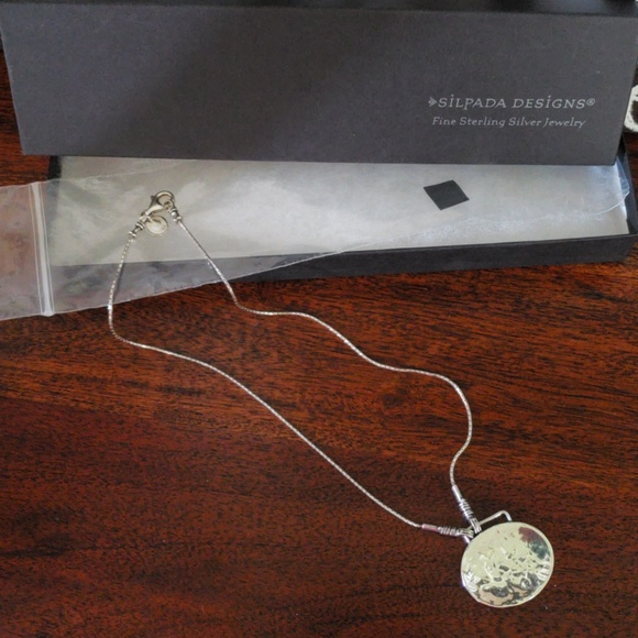 Silpada Jewelry - Silpada Hammered Sterling Silver Disc necklace